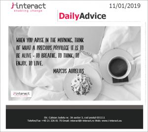 Daily Advice 11 ianuarie