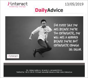 Daily Advice 13 mai 2019