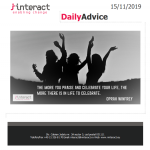 Daily Advice 15 noiembrie 2019