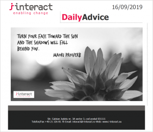Daily Advice 16 septembrie 2019