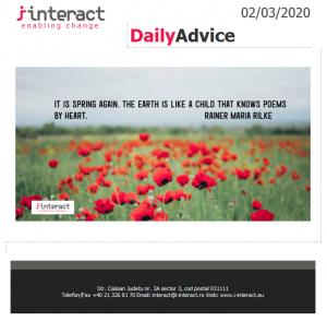 Daily Advice 2 martie 2020