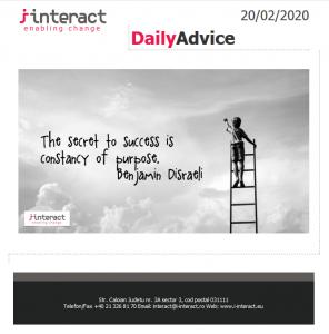 Daily Advice 20 februarie 2020