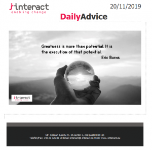 Daily Advice 20 noiembrie 2019