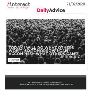 Daily Advice 21 februarie 2020