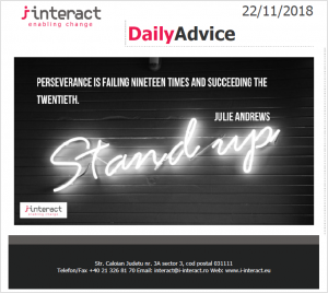 Daily Advice 22 noiembrie