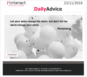 Daily Advice 23 noiembrie