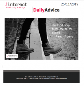Daily Advice 25 noiembrie 2019
