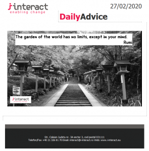 Daily Advice 27 februarie 2020