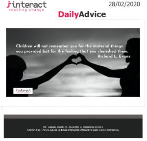 Daily Advice 28 februarie 2020