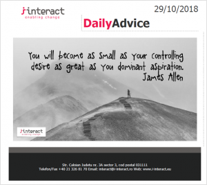 Daily Advice 29 octombrie