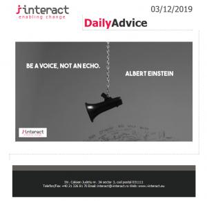 Daily Advice 3 decembrie 2019