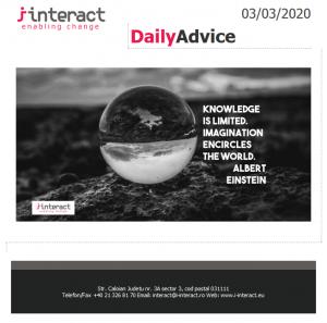 Daily Advice 3 martie 2020