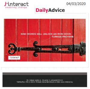 Daily Advice 4 martie 2020