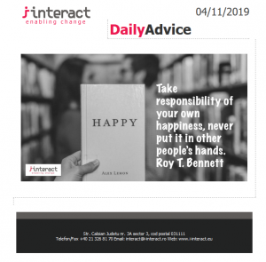 Daily Advice 4 noiembrie 2019