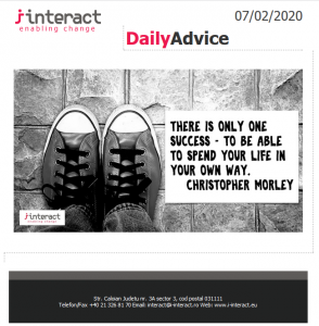Daily Advice 7 februarie 2020