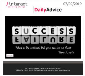Daily Advice 7 februarie