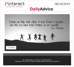 Daily Advice 8 octombrie 2019