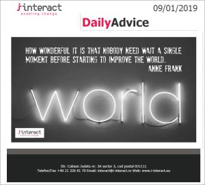 Daily Advice 9 ianuarie