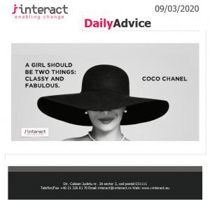 Daily Advice 9 martie 2020
